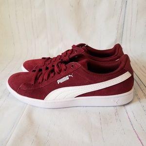 NWOT Puma burgandy suede sneakers